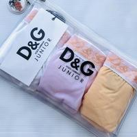 D&Gジュニア D&G junior アパレル アンダーウェア ホワイト×オレンジ パンツ3点セット D&Gロゴ入り
