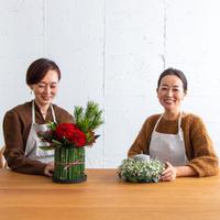 【オンラインフラワーレッスン】2020年12月かすみ草のキャンドルアレンジ / お正月花のアレンジメント