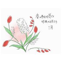 【オンラインフラワーレッスン】2021年1月 春の芽吹きを感じる球根のお花たち