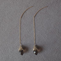 mosque earring  / smoky quartz