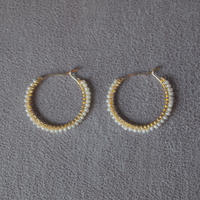 skin jewelry - hoop earrings(S) / water pearl