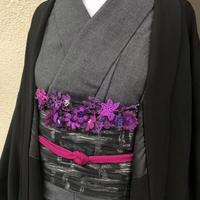 【トルコのオヤ糸屋さん】 フラワーガーデンブレスレット羽織紐・パープルピンク・Sカンつき