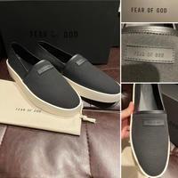 新品Fear of God 7th collection フィアオブゴッド ブランドタグ エスパドリュー スリッポン スニーカー  黒