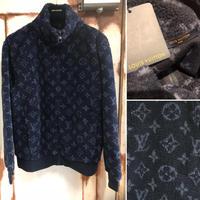 貴重Lサイズ 新品 Louis Vuitton ルイヴィトン モノグラムジャカード フリース ジップ スルー ジャケット