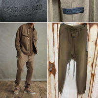 貴重M★新品タグ付 Fear of God 7th collection フィアオブゴッド The Vintage Sweatpant ヴィンテージ加工 スウェットパンツ ブラウン M