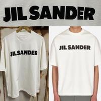 新品★タグ付き★ JIL SANDER ジルサンダー ブランドロゴ クルーネック Tシャツ オーバーサイズ ボクシィー ホワイト メンズ 半袖