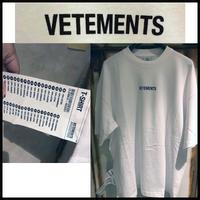 新品タグ付き★19AW★VETEMENTS ヴェトモン ブランドロゴ ラベル Tシャツ Sサイズ ホワイト