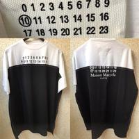 新品★Maison Margiela メゾンマルジェラブランドロゴ 切替 Spliced ロゴ Tシャツ 46