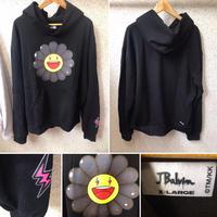 J.Balvin × Takashi Murakami NEGRO Flower Hoodie パーカー ブラック XLサイズ
