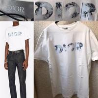 新品タグ付き★20SS DIOR AND DANIEL ARSHAM コンパクトコットン ディオール ブランドロゴ Tシャツ M ホワイト