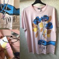 新品★DIOR AND ALEX FOXTON ディオール フラワー プリント コンパクトコットン Tシャツ