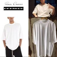 JSB今市着用★新品★ RICK OWENS リックオウエンス DRKSHDW ダークシャドウ jumbo オーバーサイズ Tシャツ ミルク 白