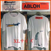 貴重★Virgil Abloh × MCA Figures of Speech FOS Tee champion コラボTシャツ  ライム XLサイズ