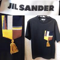 定価5.5万★新品★20SS★JIL Sander ジルサンダー ニット マルチカラー パッチポケット Tシャツ ブラック M