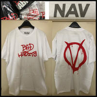 XXLサイズ★限定★VLONE × NAV music Bad habits VENDETTA TEE コラボ Tシャツ 白