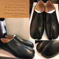 サイズ41★新品★MAISON MARGIELA メゾンマルジェラ レザー 足袋 スリッポン 革靴 シューズ 足袋ブーツ
