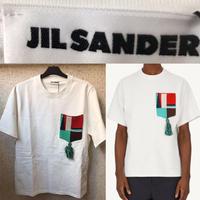 定価5.5万★新品★20SS★JIL Sander ジルサンダー ニット マルチカラー パッチポケット Tシャツ 白 L