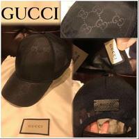 新品タグ付き★Gucci グッチ モノグラム GGロゴ メッシュキャップ 帽子 黒 L