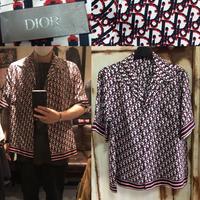 新品★DIOR ディオール オブリーク ブランドロゴ モノグラム 半袖 シャツ  42