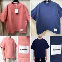 新品★ JIL SANDER ジルサンダー ブランドロゴ ヘビーウエイト Tシャツ オーバーサイズ ボクシィー  メンズ 半袖