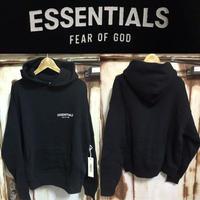新品タグ付き☆Fear of God FOG ESSENTIALS フィアオブゴット 胸ワンポイント ブランドロゴ オーバーサイズ パーカー フーディー Sサイズ