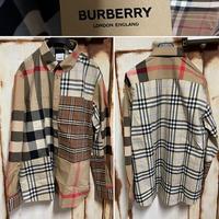定価約7万★新品21SS★BURBERRY バーバリー コントラストチェック クレイジーパターン チェックシャツ Lサイズ