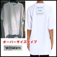 新品★Vetements ヴェトモン Oversize Inside-Out Tee オーバーサイズ インサイドアウト Tシャツ M 白