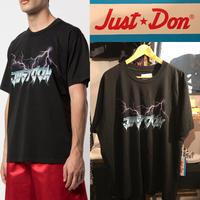 貴重XXLサイズ★新品タグ付き★Just Don ジャストドン Electric Lightning プリント ブランドロゴ Tシャツ