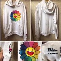 J.Balvin × Takashi Murakami NEGRO Flower Hoodie パーカー ホワイト XLサイズ