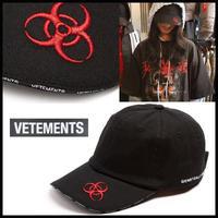 貴重★17-18AW確実本物★新作★VETEMENTS Genetically Modified embroidered-logo cotton cap ロゴ コットン キャップ 登坂着
