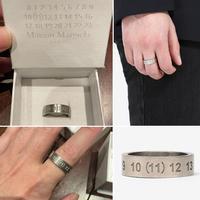 新品タグ付き★Maison Margiela メゾンマルジェラ シルバー ナンバー 11 リング 指輪 Mサイズ 定価59400円