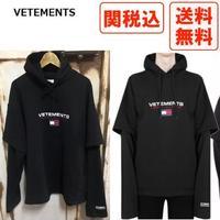 VETEMENTS × TOMMY コラボ ロゴ パーカー