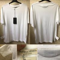 新品タグ付きBottega Veneta ボッテガヴェネタバックロゴ サイドラベル ショートスリーブ クルーネックTシャツ