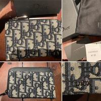 新品★DIOR Oblique ディオール モノグラム柄 ファスナー カードケース オブリーク コンパクトウォレット ミニ財布