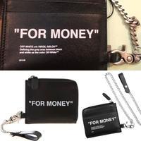 新品箱付き!OFF-WHITE オフホワイト FOR MONEY チェーンウォレット 財布 ブラック
