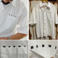 新品 MARNI マルニ ブランドロゴ ポケット 半袖 シャツ