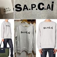 新品21SS★ A . P . C . X SACAI アーペーセー サカイ コラボ スウェットシャツ トレーナー Lサイズ オーバーサイズ APC