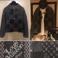 貴重54サイズ 新品 Louis Vuitton NIgo ルイヴィトン コラボ ジャイアント ダミエ ウェーブス モノグラム デニムジャケット 3代目岩田着