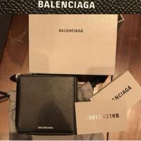 新品 BALENCIAGA バレンシアガ VILLE レザー 二つ折り財布 ウォレット 財布 小銭入れ 札入れ あり
