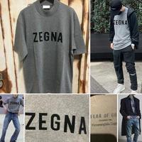 新品タグ付き Zegna × fear of god ゼニア フィアオブゴッド コラボ 半袖 Tシャツ グレー
