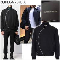 新品タグ付き★BOTTEGA VENETA カーブジップ ボンバージャケット 黒 46サイズ