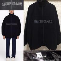 新品タグ付き★19AW★BALENCIAGA バレンシアガ オーバーサイズ ブランドロゴ ウール トラックスーツ ジャケット 44サイズ