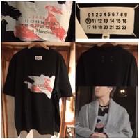 EXILE TAKAHIRO着用★新品タグ付き★20SS★メゾンマルジェラ MAISON MARGIELA ロゴ デストロイド タブ Tシャツ 50 オーバーサイズ