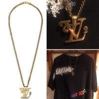新品 Louis Vuitton Nigo ルイヴィトン LV アイコン ゴールドネックレス
