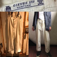 VINTAGE★40s〜50s GIEVES royal navy white trousers ギーブス ロイヤルネイビー サスペンダーボタン トラウザー パンツ 英国海軍