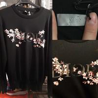 ディオール メン SORAYAMA コラボ Oblique jacquard モノグラム ブランドロゴ ニット セーター L