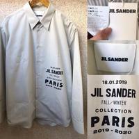定価約12万★新品タグ付き★19AW★JIL Sander ジルサンダー ブランドロゴ シャツ 42サイズ グレー オーバーサイズ