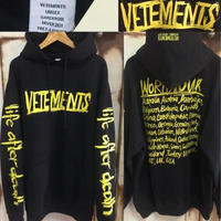 新作!20AW VETEMENTS ヴェトモン ブランドロゴ オーバーサイズ パーカー XS