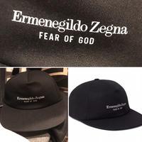 新品タグ付き Zegna × fear of god ゼニア フィアオブゴッド コラボ ロゴ キャップ
