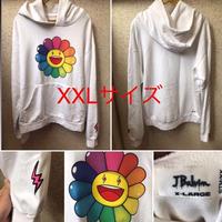 J.Balvin × Takashi Murakami NEGRO Flower Hoodie パーカー ホワイト XXLサイズ